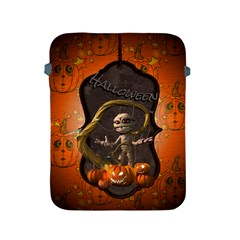 Halloween, Funny Mummy With Pumpkins Apple Ipad 2/3/4 Protective Soft Cases by FantasyWorld7