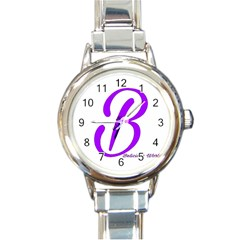 Belicious World  b  Purple Round Italian Charm Watch by beliciousworld