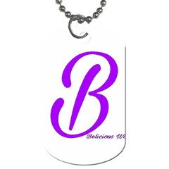 Belicious World  b  Purple Dog Tag (two Sides) by beliciousworld