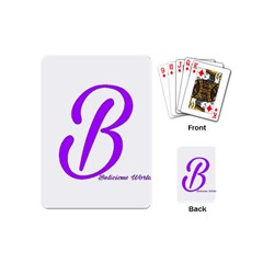 Belicious World  b  Purple Playing Cards (mini)  by beliciousworld
