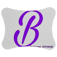 Belicious World  b  Purple Jigsaw Puzzle Photo Stand (bow) by beliciousworld