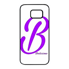 Belicious World  b  Purple Samsung Galaxy S7 Edge Black Seamless Case by beliciousworld