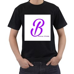 Belicious World  b  Blue Men s T Shirt (black) (two Sided) by beliciousworld