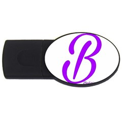 Belicious World  b  Blue Usb Flash Drive Oval (4 Gb) by beliciousworld