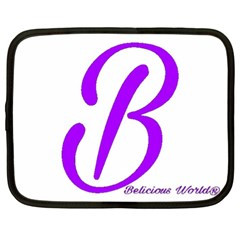 Belicious World  b  Blue Netbook Case (xl)  by beliciousworld
