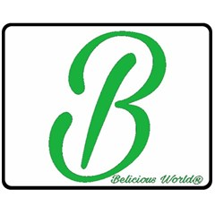 Belicious World  b  In Green Double Sided Fleece Blanket (medium)  by beliciousworld