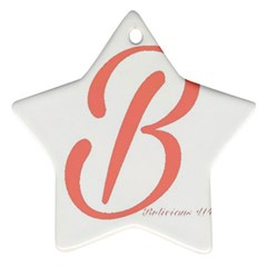 Belicious World  b  In Coral Ornament (star) by beliciousworld