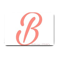 Belicious World  b  In Coral Small Doormat  by beliciousworld