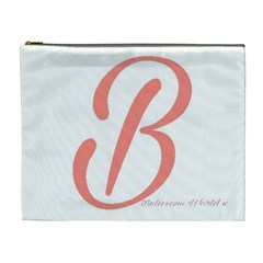 Belicious World  b  In Coral Cosmetic Bag (xl) by beliciousworld