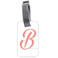 Belicious World  b  In Coral Luggage Tags (two Sides) by beliciousworld