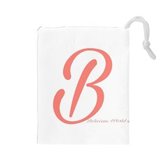 Belicious World  b  In Coral Drawstring Pouches (large)  by beliciousworld