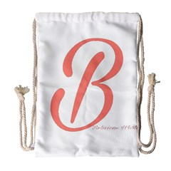 Belicious World  b  In Coral Drawstring Bag (large) by beliciousworld