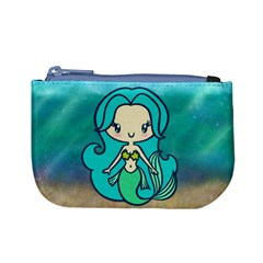 Aquamarine Mermaid Coin Change Purse by Ellador