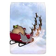 Christmas, Santa Claus With Reindeer Flap Covers (s)  by FantasyWorld7