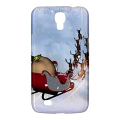 Christmas, Santa Claus With Reindeer Samsung Galaxy Mega 6 3  I9200 Hardshell Case by FantasyWorld7
