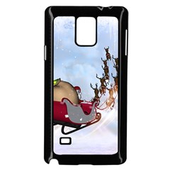 Christmas, Santa Claus With Reindeer Samsung Galaxy Note 4 Case (black) by FantasyWorld7