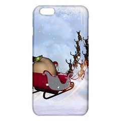 Christmas, Santa Claus With Reindeer Iphone 6 Plus/6s Plus Tpu Case by FantasyWorld7