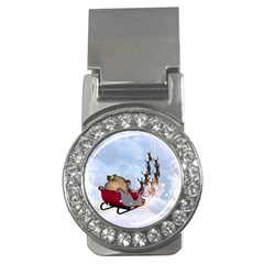 Christmas, Santa Claus With Reindeer Money Clips (cz)  by FantasyWorld7