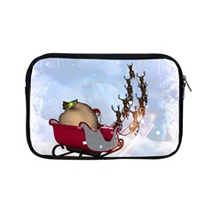 Christmas, Santa Claus With Reindeer Apple Ipad Mini Zipper Cases by FantasyWorld7