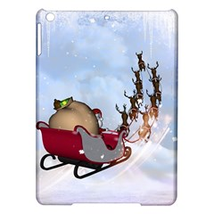 Christmas, Santa Claus With Reindeer Ipad Air Hardshell Cases by FantasyWorld7