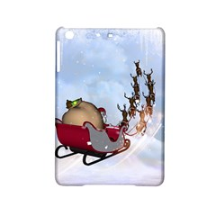 Christmas, Santa Claus With Reindeer Ipad Mini 2 Hardshell Cases by FantasyWorld7