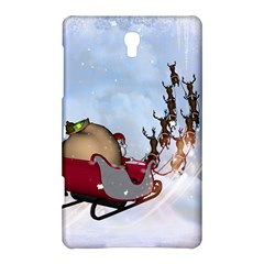 Christmas, Santa Claus With Reindeer Samsung Galaxy Tab S (8 4 ) Hardshell Case  by FantasyWorld7