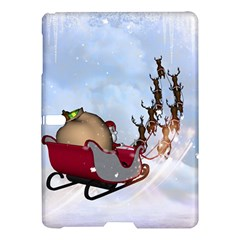 Christmas, Santa Claus With Reindeer Samsung Galaxy Tab S (10 5 ) Hardshell Case  by FantasyWorld7