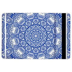 Blue Mandala Art Pattern Ipad Air 2 Flip by paulaoliveiradesign