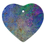 Colorful Pattern Blue and Purple Colormix Ornament (Heart) Front