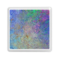 Colorful Pattern Blue And Purple Colormix Memory Card Reader (square)  by paulaoliveiradesign