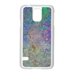 Colorful Pattern Blue And Purple Colormix Samsung Galaxy S5 Case (white) by paulaoliveiradesign