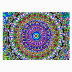 Colorful Purple Green Mandala Pattern Large Glasses Cloth
