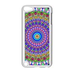 Colorful Purple Green Mandala Pattern Apple Ipod Touch 5 Case (white) by paulaoliveiradesign