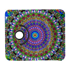Colorful Purple Green Mandala Pattern Galaxy S3 (flip/folio) by paulaoliveiradesign