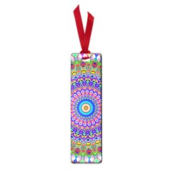 Colorful Purple Green Mandala Pattern Small Book Marks by paulaoliveiradesign