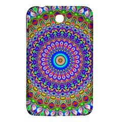 Colorful Purple Green Mandala Pattern Samsung Galaxy Tab 3 (7 ) P3200 Hardshell Case  by paulaoliveiradesign