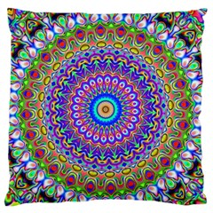 Colorful Purple Green Mandala Pattern Standard Flano Cushion Case (one Side) by paulaoliveiradesign