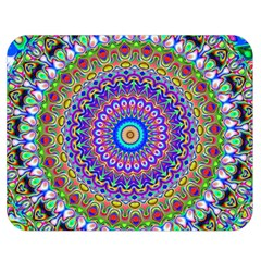 Colorful Purple Green Mandala Pattern Double Sided Flano Blanket (medium)