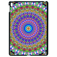 Colorful Purple Green Mandala Pattern Apple Ipad Pro 9 7   Black Seamless Case by paulaoliveiradesign