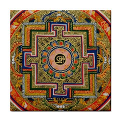 Asian Art Mandala Colorful Tibet Pattern Face Towel by paulaoliveiradesign
