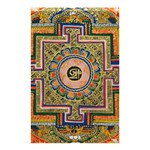 Asian Art Mandala Colorful Tibet Pattern Shower Curtain 48  x 72  (Small)  42.18 x64.8 Curtain
