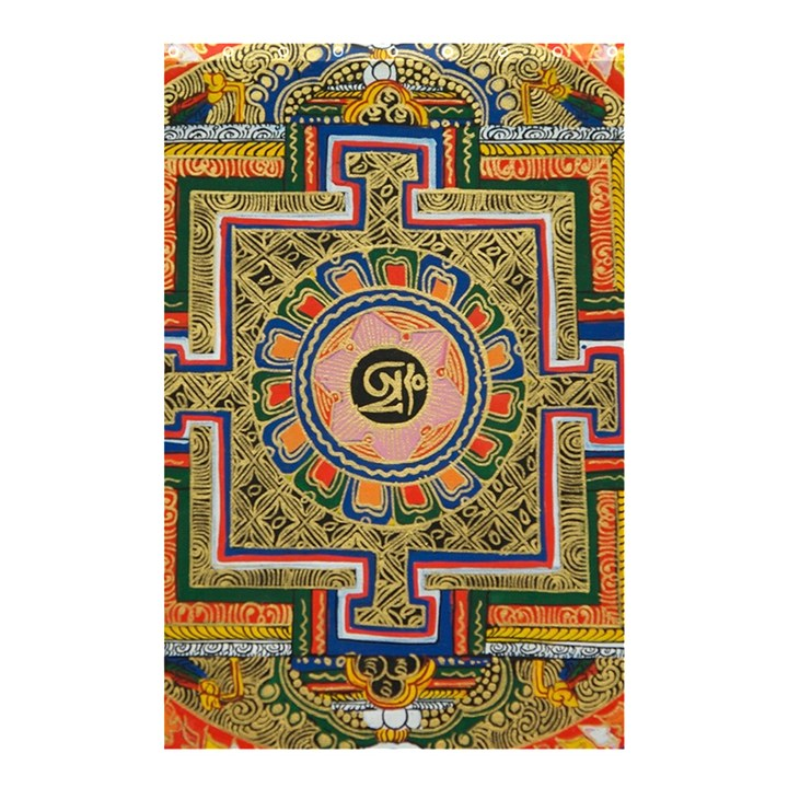 Asian Art Mandala Colorful Tibet Pattern Shower Curtain 48  x 72  (Small)