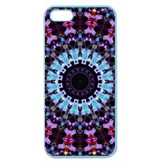 Kaleidoscope Mandala Purple Pattern Art Apple Seamless Iphone 5 Case (color)