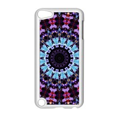 Kaleidoscope Mandala Purple Pattern Art Apple Ipod Touch 5 Case (white) by paulaoliveiradesign