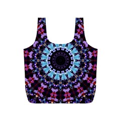 Kaleidoscope Mandala Purple Pattern Art Full Print Recycle Bags (s)  by paulaoliveiradesign