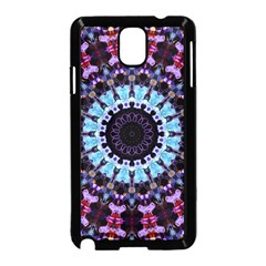 Kaleidoscope Mandala Purple Pattern Art Samsung Galaxy Note 3 Neo Hardshell Case (black) by paulaoliveiradesign