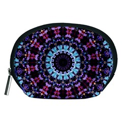 Kaleidoscope Mandala Purple Pattern Art Accessory Pouches (medium)  by paulaoliveiradesign