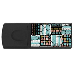 Distressed Pattern Rectangular Usb Flash Drive by linceazul