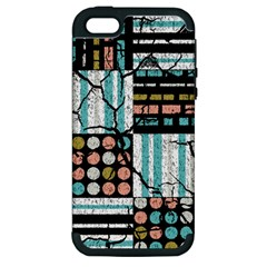 Distressed Pattern Apple Iphone 5 Hardshell Case (pc+silicone) by linceazul