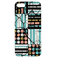 Distressed Pattern Apple Iphone 5 Hardshell Case With Stand by linceazul